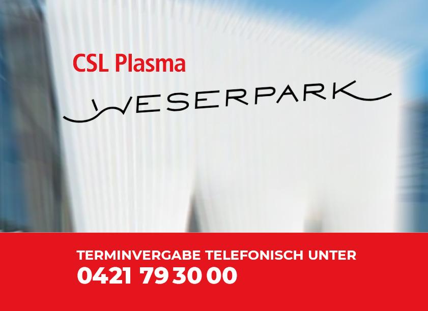 CSL Plasma jetzt zwei Mal in Bremen!